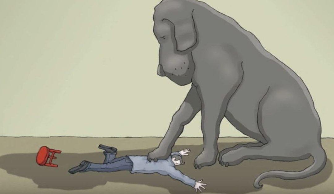 """La depresión: """"Yo tuve un perro negro"""", relato de Matthew Johnstone."""